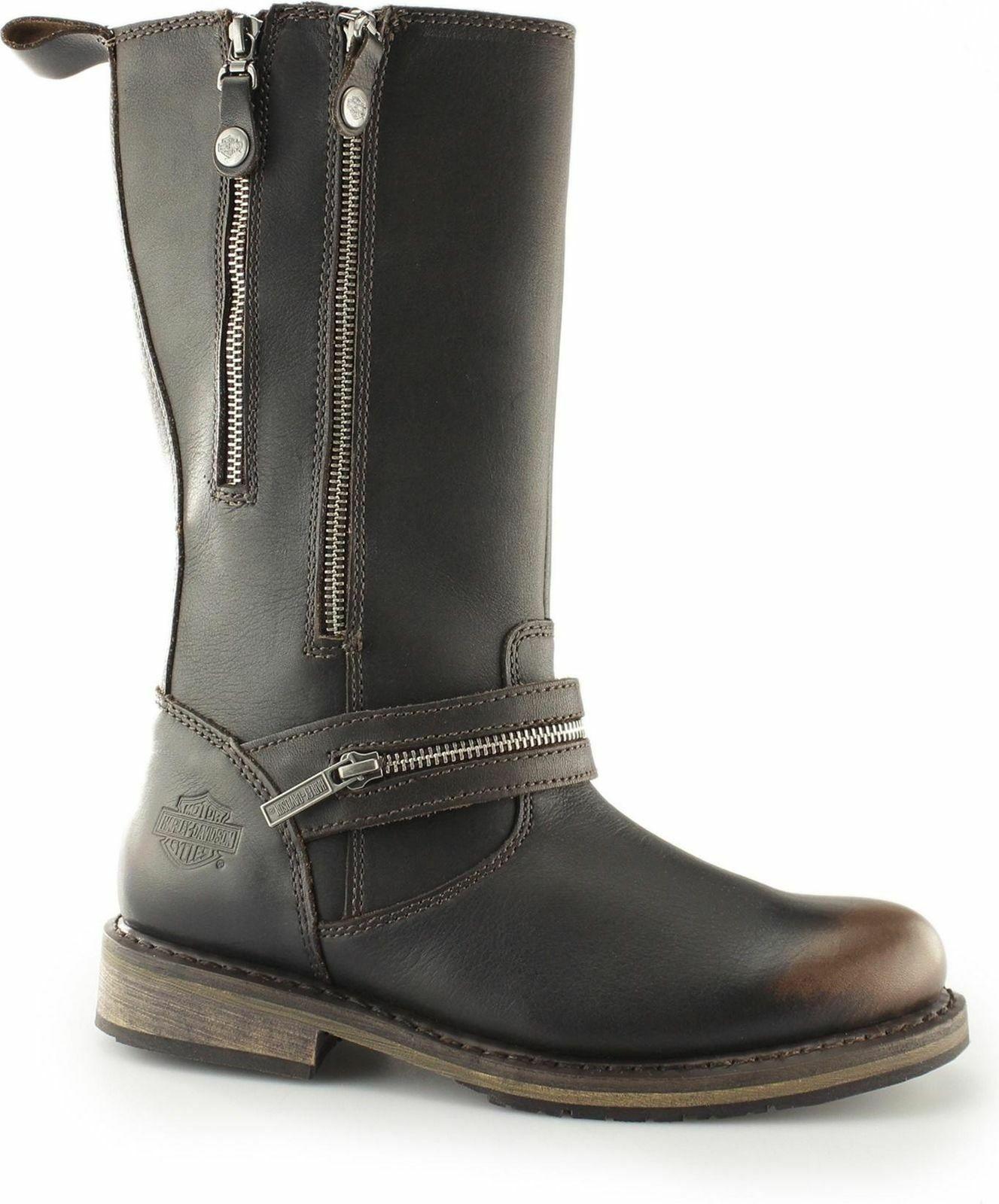 LADIES  BROWN BIKER HARLEY DAVIDSON BIKER BROWN BOOT SACKETT 77c58d