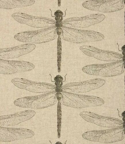 Botanical Dragonfly Linen Natural Insects Nature Voyage Style Fabric Curtains