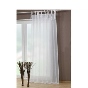 Crushed Voile Tie Top Curtain Elegent Sheer Curtain 2pcsbag
