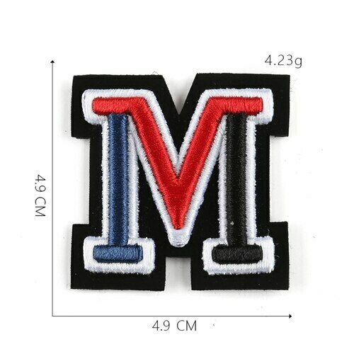 New Letters Patch Iron Embroidered Sew Applique Custom Patches Tag Hat Bag Shirt
