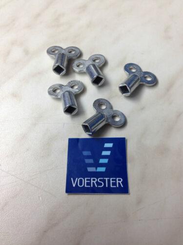 Entlüftungsschlüssel aus Metall Heizung Entlüften 5 Stück