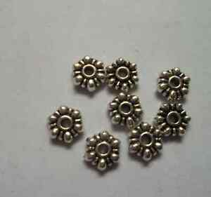 100/500/1000pcs alloy metal Tibetan silver Rondelle Spacer Beads 7x2.5mm