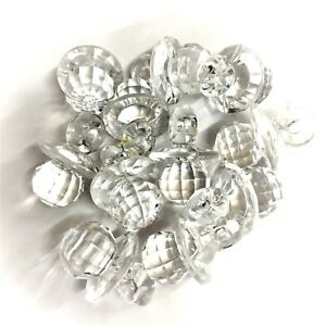 50 x Baby Pink CRYSTAL Faceted Acrylic Dummy Charms Baby Shower