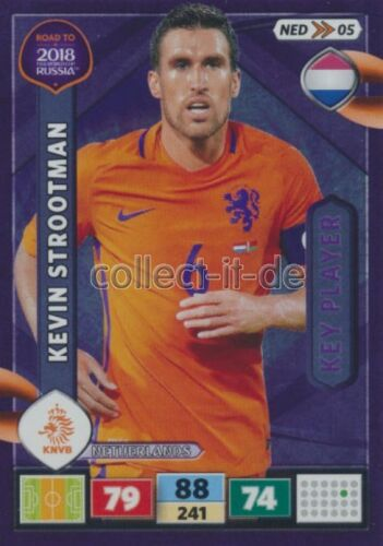 Ned05-kevin strootman-key player-Panini Adrenalyn Road to World Cup 2018