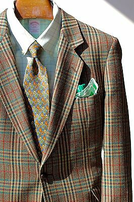 Magee Gentleman's 42R Green, Ivory, and Red Windowpane Check Sport Coat- Ireland