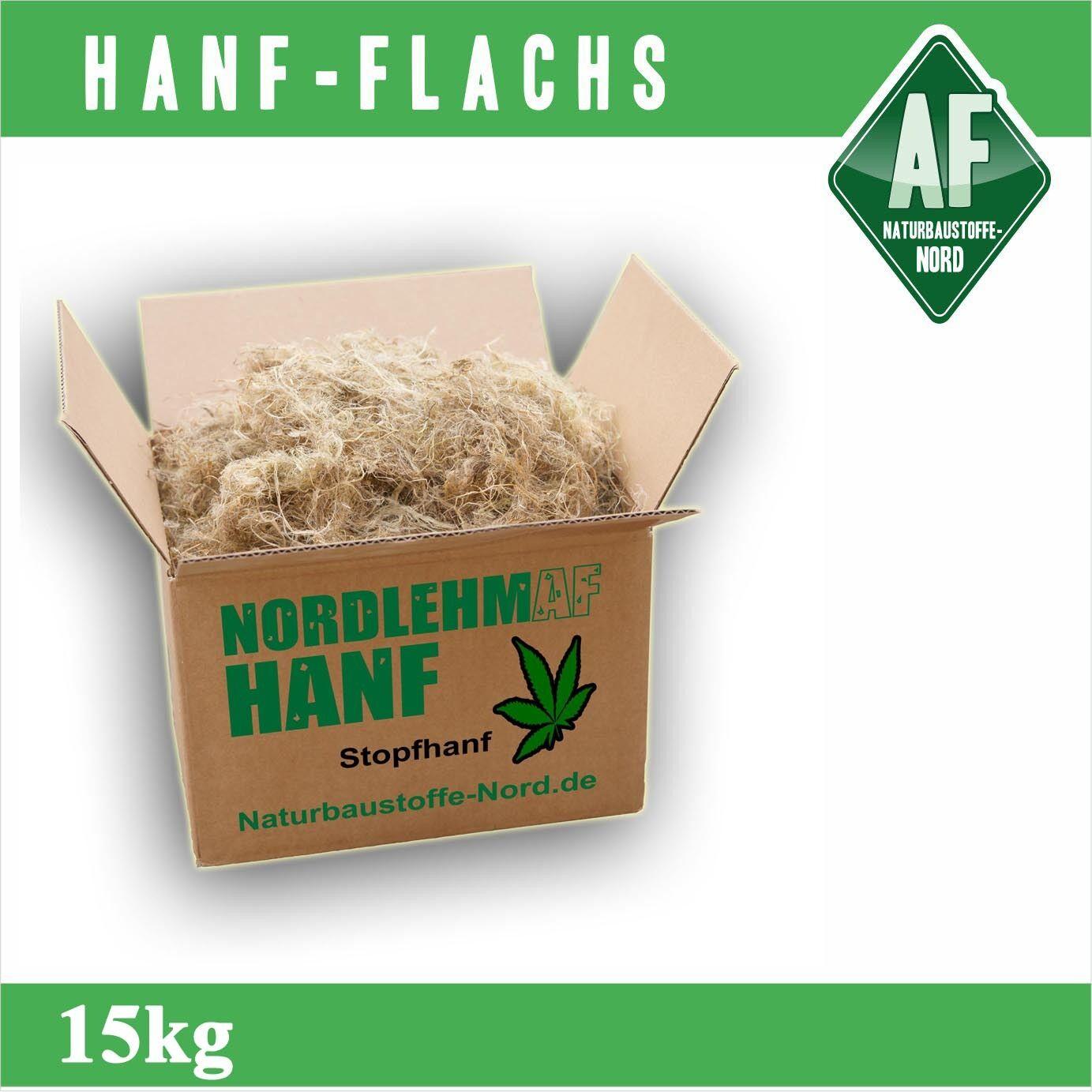 Stopfhanf 15kg Hanf Hanffasern Lehmbau Lehm Altbau Fuge