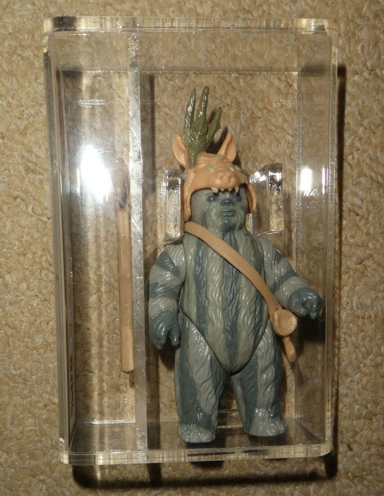 Star Wars vintage Teebo Ewoks Graded  80% figure 1984  jedi L F L