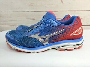 Dettagli su MIZUNO WAVE RUNNER 19 Scarpe Athletic scarpe da ginnastica Uomo Sz 8.5 WOMEN'S 10 Blu Rosso mostra il titolo originale