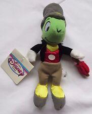 "JIMINY CRICKET Mini Bean Bag 8"" The Disney Store Pinocchio Plush with Tags"