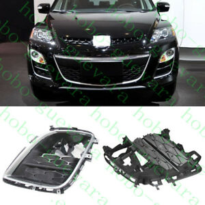 2pcs For Mazda CX-7 2009-11 Car LH+RH Front Bumper Front Fog Lights Lamps Covers