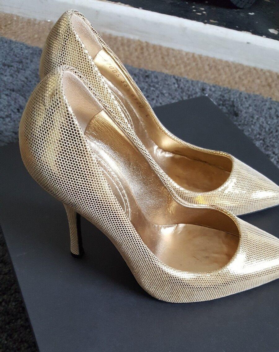 Roberto CAVALLI Zapatos de Tacón Bombas De oro oro oro Metálico EU 36.5 UK 3.5  increíbles descuentos