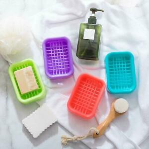 Nette-Badezimmer-Wasserablauf-Seifenschale-Fall-Halter-Abtropfflaeche-SoapS