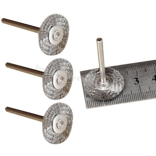 20x Fils En Acier Inoxydable Roue 22 mm brosses pour outils rotatifs polonais enlever la rouille