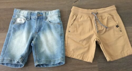 2x Boys Size 4 TARGET Casual Shorts NEW Denim & Brown Cotton BNWOT