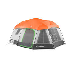 Tahoe Gear Ozark TGT-OZARK-16-C 16 Person 3 Season Family Cabin Tent, Beige