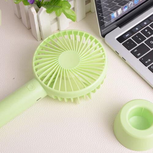 HL Handheld Mini Fan with Base Portable Personal Desktop Fan USB Rechargeable