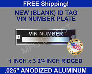Find Owner Of Vehicle By Vin Number Free >> Details About New Blank Vin Serial Number Plate Identification Vehicle Id Tag Free Shipping