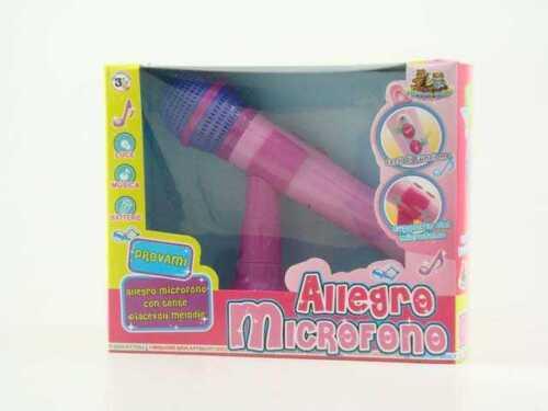 Allegro Microfono Con Luci e Suoni Riproduce La Voce Gioco Giocattolo dfh