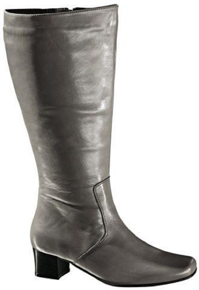 Graue Damen City Stiefel von Polaris    XL-Weitschaftstiefel - 468 129 02