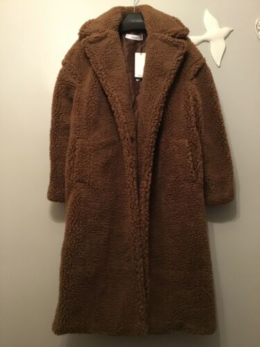 Shearling Xs Fur Bloggers Size Lapels Coat With Teddy Mango Faux awq4pp