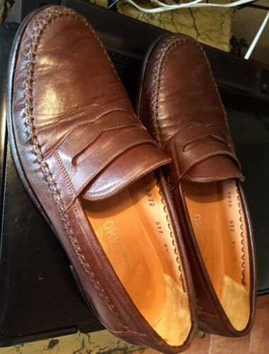Salvatore Ferragamo Brown Leather Moccasin Loafers