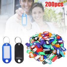200 Key Tag Plastic Chain Tab Split Ring Parts