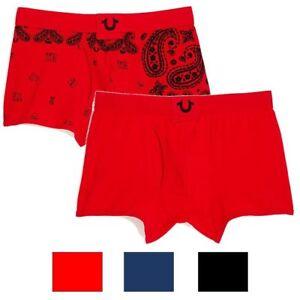 9840f5254 True Religion Men s 2 Pack Bandana   Solid Boxer Briefs Underwear ...