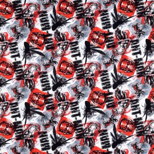 "Marvel Comics ANTMAN ALLOVER 100/% Cotton Fabric By the Fat Quarter 18/"" x 22/"""