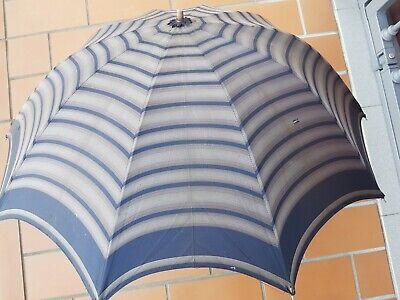 Adattabile Raro Antico Ombrello : Epoca 1930-1940 -eccezionali I Colori E Il Manico !!! Sapore Puro E Delicato