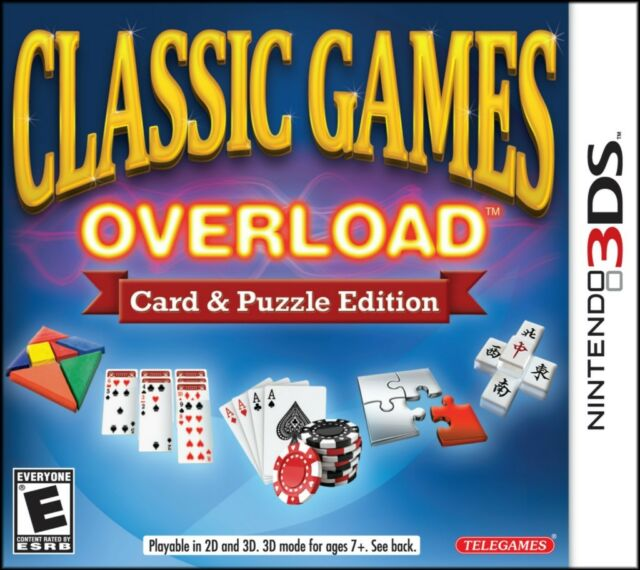 All classic games overload: card & puzzle edition screenshots for 3ds.
