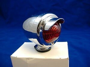 Image Is Loading Chrome Bicycle Rear Red Tail Light With Visor