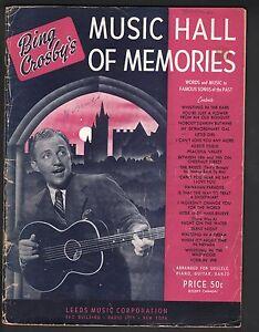 Bing-Crosby-039-s-Music-Hall-of-Memories-Sheet-Music