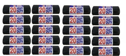 British Heavy Duty Black Bin Liners//Sacks!!Rubbish//Thick//Bags//Refuse//Strong