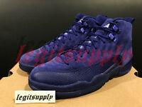 IN HAND Nike Air Jordan 12 XII Retro Suede 8-13 Deep Royal Blue White 130690-400