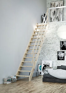 Image Is Loading Normandie Wooden Space Saver Staircase Kit Loft Stair