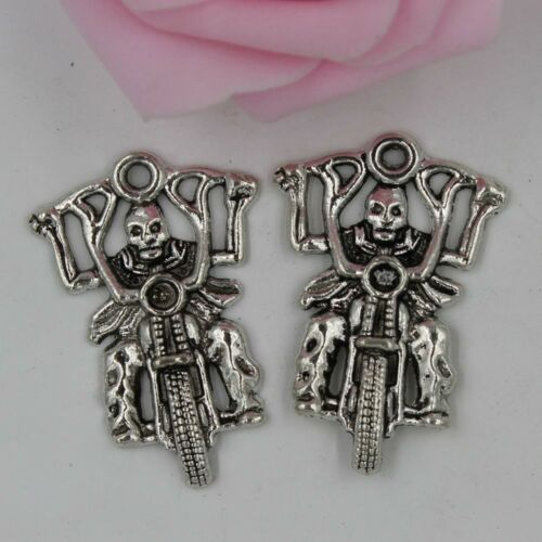 Free shippin 5//10pcs Retro style motorbike alloy charms Pendants 44x29mm