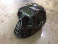 "2"" Natural Haematite Hand Carved Skull Gemstone Crystal Healing Reiki, Hematite"