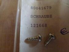 2 Original Vespa Schrauben Hinterrad-Staubabdeckung Piaggio 121668 NEU