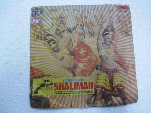 SHALIMAR R D BURMAN 2221 335 BOLLYWOOD funk wild moog sitar break RECORD 45 MINT