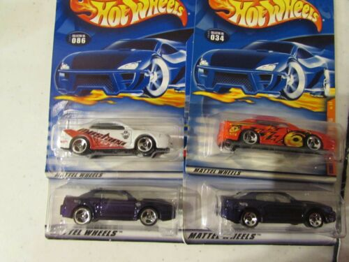 4 Hot Wheels Lot of All different /'99 Mustang Types!
