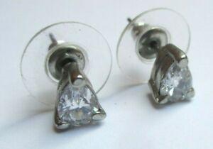 Candide Boucles D'oreilles Clou Couleur Argent Solitaire Cristal Diamant Bijou Vintage 8 Divers ModèLes RéCents