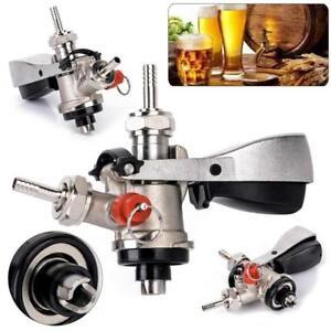 Stainless-Steel-Keg-Coupler-Draft-Beer-Dispenser-Wine-Bar-Brew-Tools-Tap-Faucet
