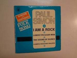 PAUL-SIMON-I-Am-A-Rock-3-France-7-034-65-CBS-Records-EP-6211-PCV-Flipback-Laminated