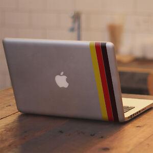 German-Flag-Stripes-Vinyl-Decal-Sticker-for-Macbook-Air-Pro-11-13-15-17-034-Laptop