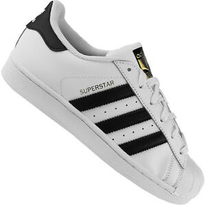 adidas-Originals-Superstar-Damen-Kinder-Turnschuhe-Schuhe-Sneaker-C77154-Weiss