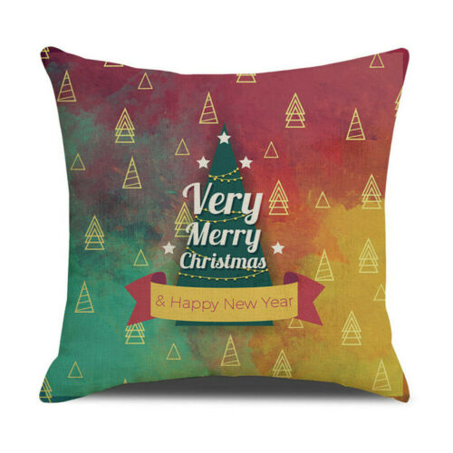 UK Christmas Pillow Case Sofa Throw Cushion Cover Xmas Home Room Bed Decor 18/'/'