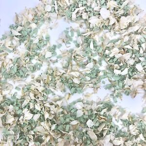 Biodegradable-Wedding-Confetti-Petals-White-Delphinium-Mint-Green-Funfetti