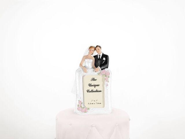Tortenfigur Hochzeit Hochzeitstorte Zögernder Bräutigam Brautpaar