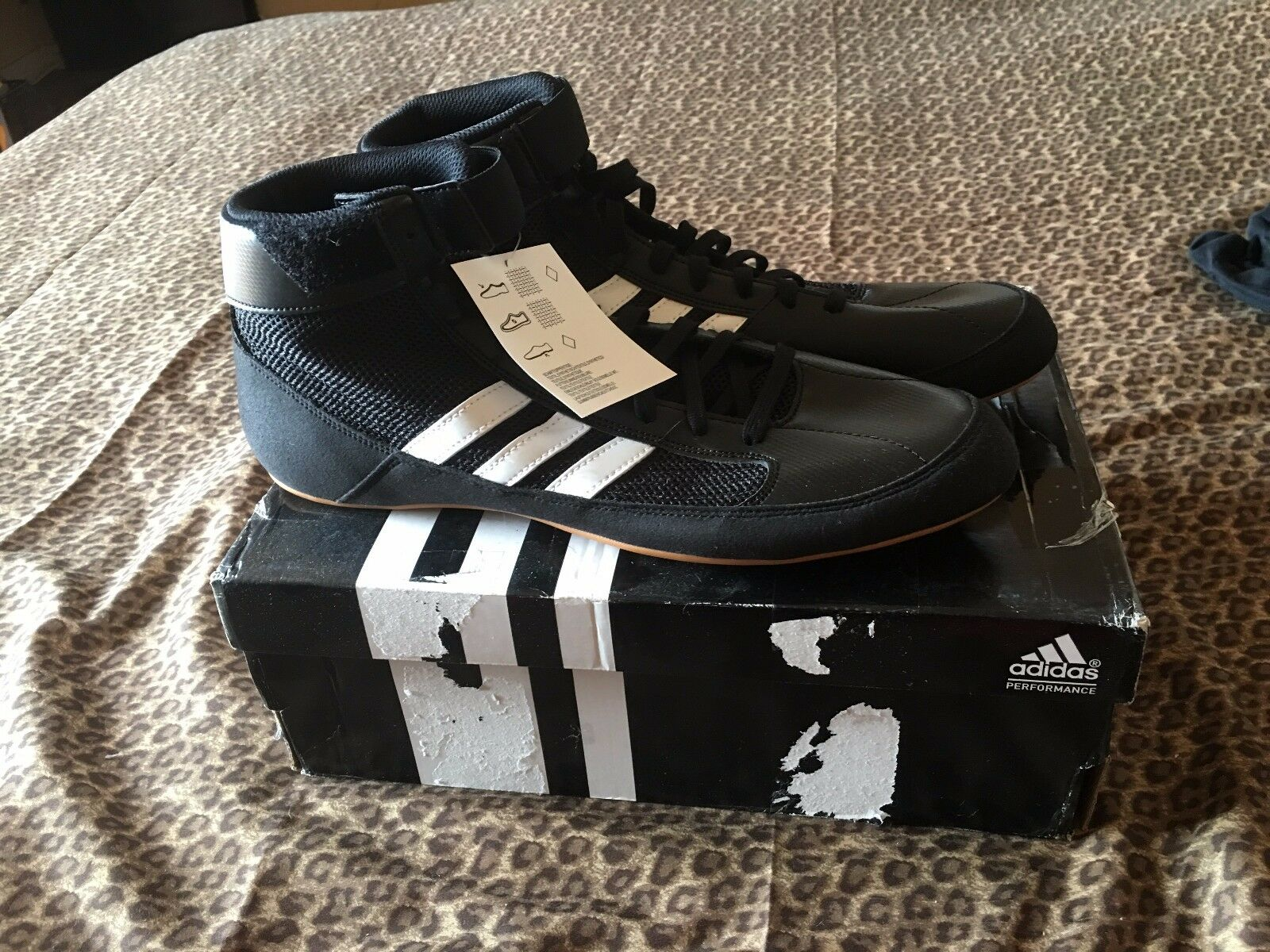 Adidas Black Wrestling shoes Size 11- Brand New In Box