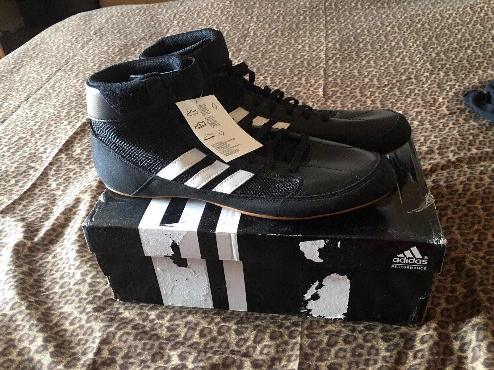 Adidas nero wrestling scarpe di taglia 11 - nuovo di scarpe zecca nel riquadro f97199